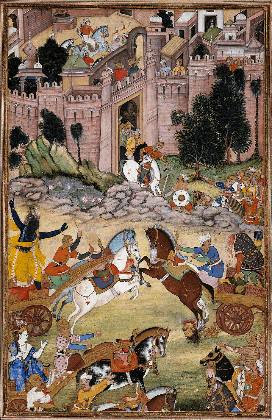 famous mughal paintings