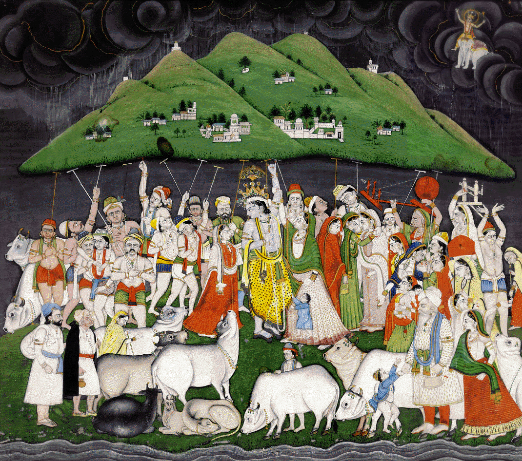 New Bhagwan Krishna Govardhan Mountain pictures for free download